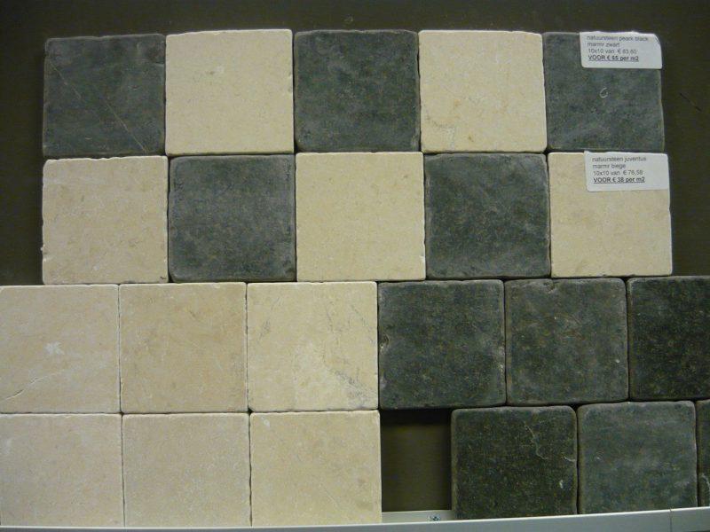 Natuursteen 10x10 Black-0