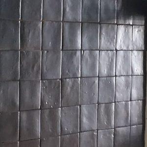Oud zwart replica Zellige 10x10 cm-0