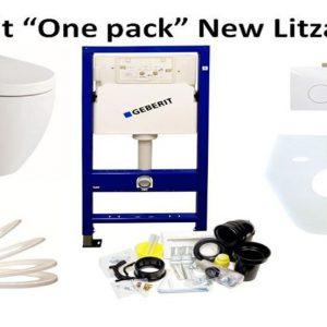 Gebrit frame + wandcloset litza + soft close toiletbril.-0