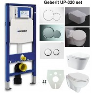 Geberit UP-320 samengestelde set, rimless wandcloset met nano coating 55cm + zitting diepspoel wit -0