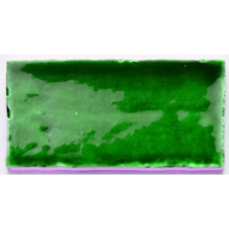 Groene wandtegel in rechthoekig formaat 7,5x15 oud -5343