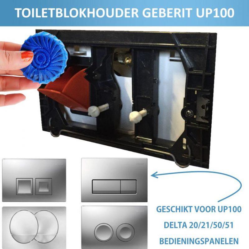 Toiletblokhouder montageset tbv Geberit UP-100-0