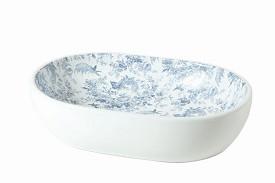 Opzetkom Nice, toile de jouy Blue 59x41x15cm-0