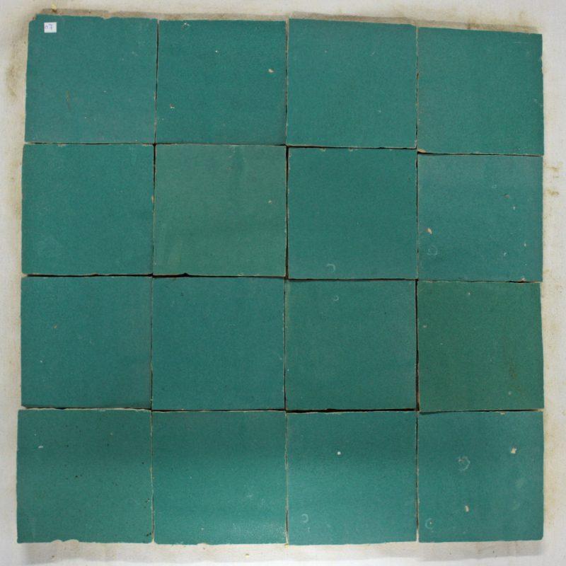 Zelliges 007 tegels Marokkaanse tegels 10x10 handgekapt op=op-0