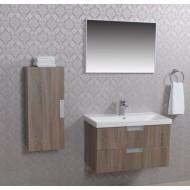 Wiesbaden 2 meubel 80 +ker.wast.+spiegel + kast eiken-0