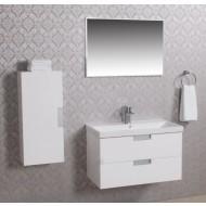 Wiesbaden 2 meubel 80 +ker.wast.+spiegel + kast wit-0
