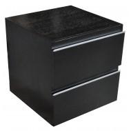 Wiesbaden Ladekast 450x450 houtnerf zwart gelakt-0