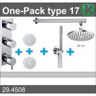 Wiesbaden one-pack inbouwthermostaatset type 17 (20cm)-0