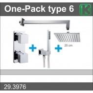 Wiesbaden one-pack inbouwthermostaatset vierk.type 6 (20cm)-0