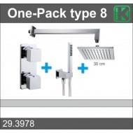Wiesbaden one-pack inbouwthermostaatset vierk.type 8 (30cm)-0