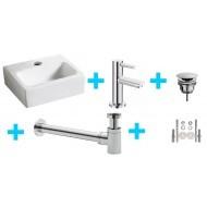 Wiesbaden one-pack Leto fontein + Amador toiletkraan chroom-0