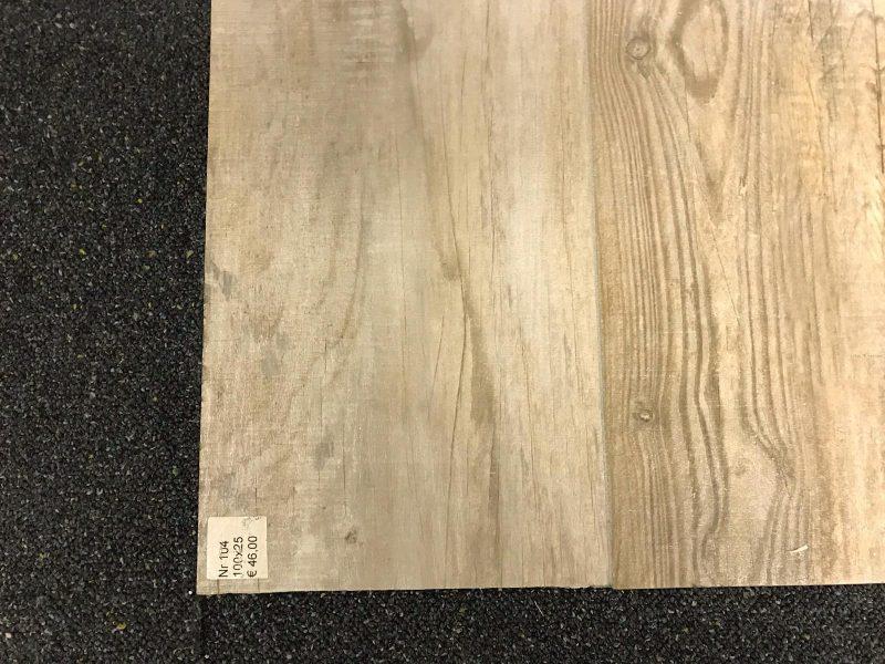 Keramisch parket / Houtlook tegels licht bruin 100x25-6877