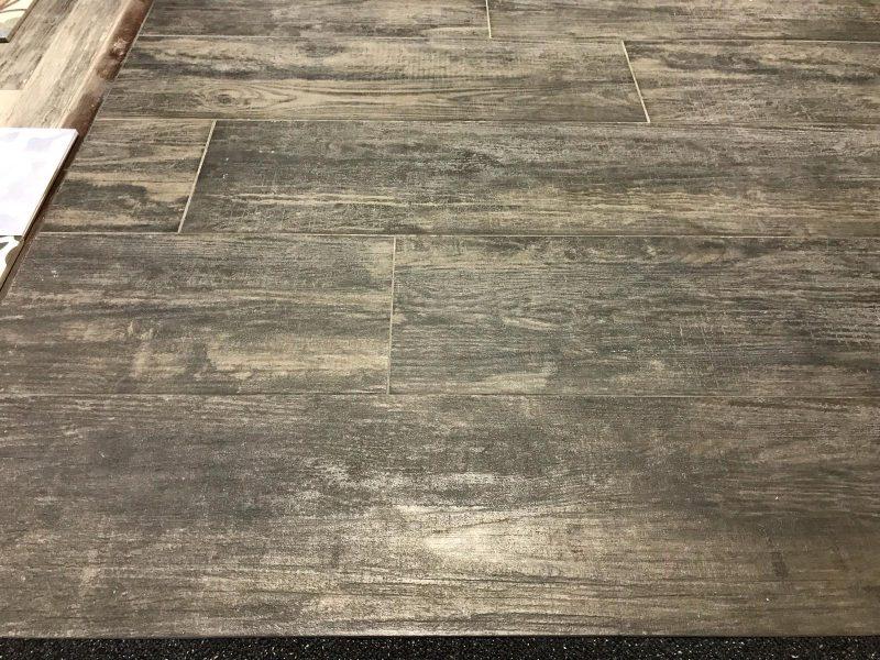 Keramisch parket / Houtlook tegels bruin grijs 100x25-6879
