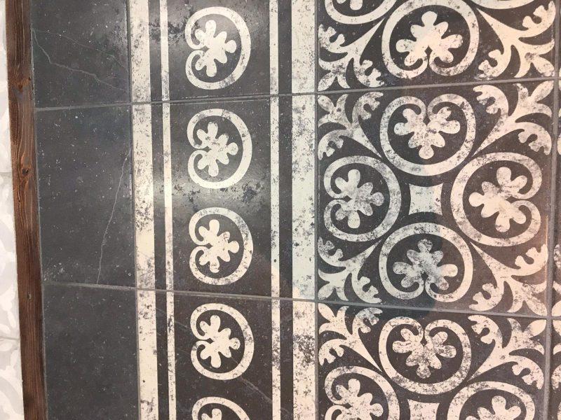 Cartuja Portugese patroontegel verouderd 25x25-6858