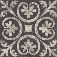 Zwart wit patroon tegel 25x25 cm-6852