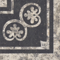 Cartuja Portugese patroontegel Corner/ hoektegel 25x25-6855