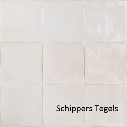 15x15 handvorm mat wit -6884