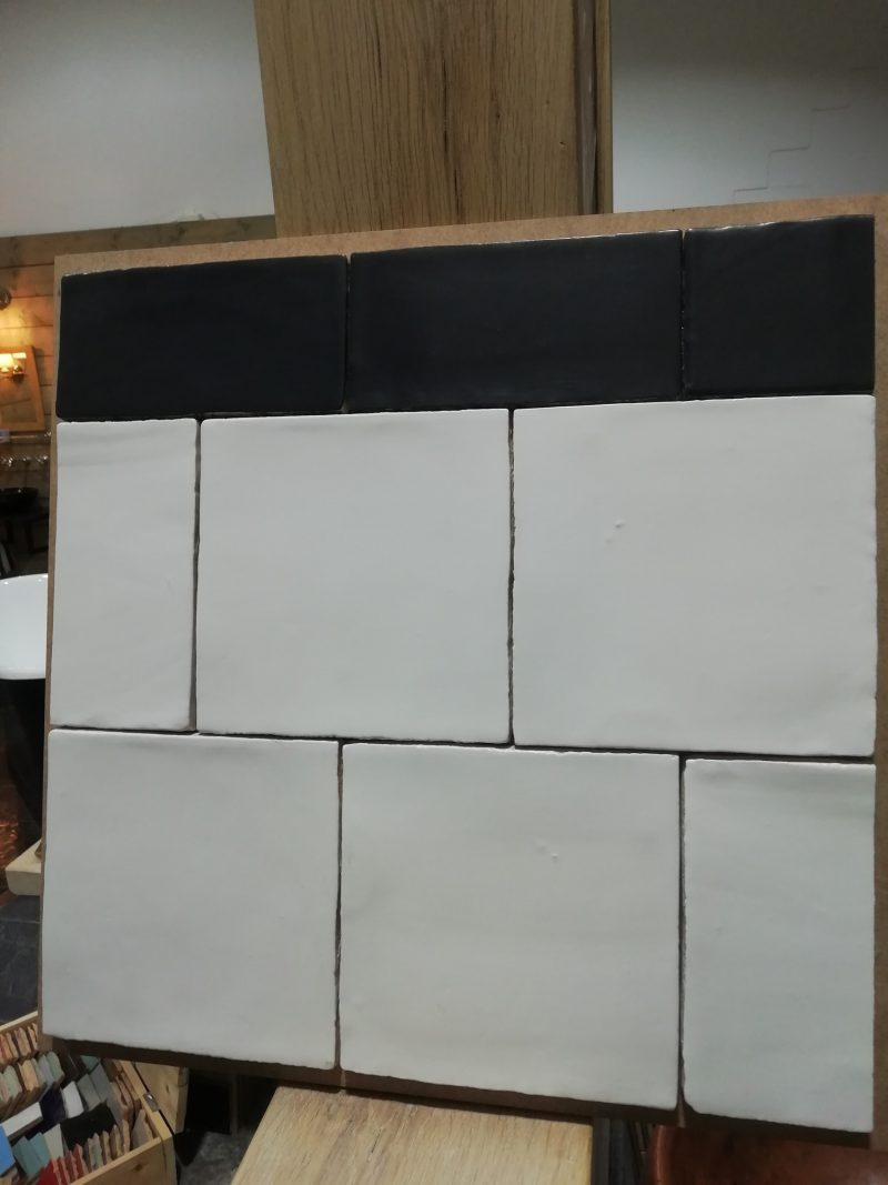 15x15 handvorm mat wit -6887