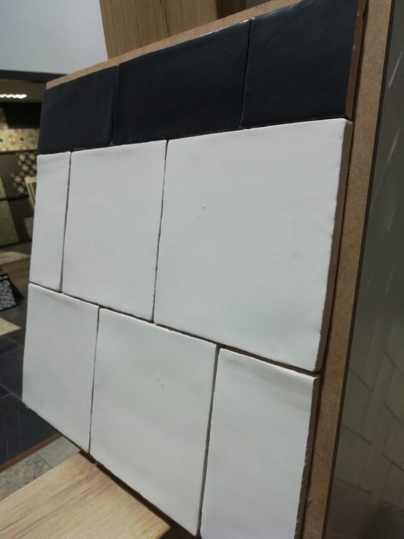 15x15 handvorm mat wit -6886