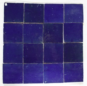 Zelliges 005 tegels Marokkaanse tegels 10x10 handgekapt per stuk-0
