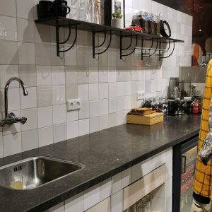 Friese witje steenbok grijsmix 13x13 aanbieding op=op €20 per m2 *Gratis hoektegels* -0