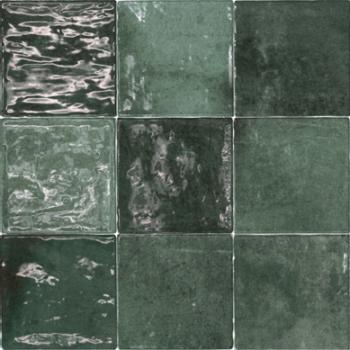 replica zellige Verde Oscuro is een keramische kopie van de echte zelliges. Verkrijgbaar in 10×10 cm.-0