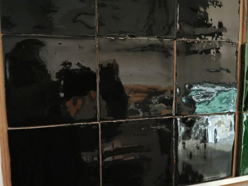 13x13 glans zwart-0